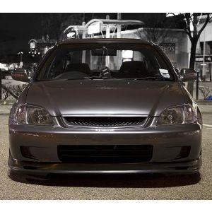 PU Design Avant Lame de Pare-Choc Mugen Style Noir Polyurethane Honda Civic Facelift-30167