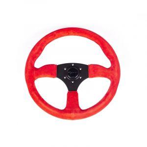 Vigor Volant Spa Noir 350mm 50mm Peau Retournée Red Waffle Stitch-69400