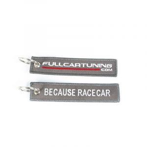 Fullcartuning Porte Clé Because Racecar Gris(e)-56207