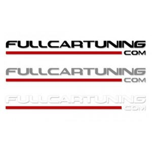 Fullcartuning Autocollant Avec Bande rouge 30cm-46936