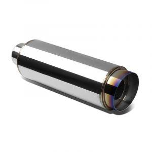 SK-Import Silencieux Universel 114mm Acier Inoxydable-67894