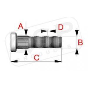 QSP Gounjons Acier M12x1.5-53701