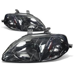 SK-Import Phares Avants Amber Corner Chromé Fumé Honda Civic Facelift-56166