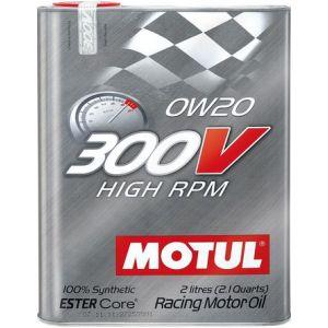 Motul Huile Moteur 300V High RPM 2 Liter 0W-20 100 Synthétique-58896