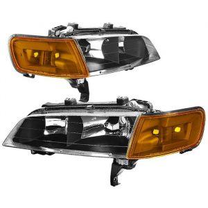 SK-Import Phares Avants Fond Noir Transparent Honda Accord-62825
