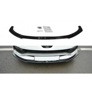 Maxton Avant Lame de Pare-Choc Noir Plastique ABS Renault Clio-77114