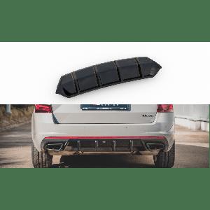Maxton Arrière Diffuseur V1 Noir Plastique ABS Skoda Octavia-77194