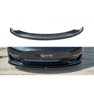 Maxton Avant Lame de Pare-Choc Noir Plastique ABS Tesla Model 3-77198