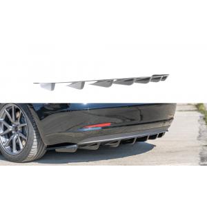 Maxton Arrière Diffuseur Noir Plastique ABS Tesla Model 3-77199