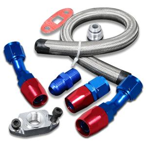 SK-Import Kit Retour d'Huile Turbo 10AN Acier Inoxydable-80084