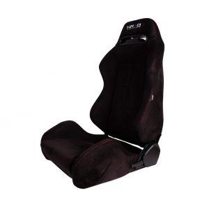 NRG Innovations Sièges Type R Style Sport Noir - Rouge Peau Retournée-77837