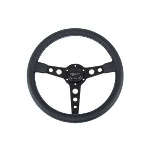 Vigor Volant Monte Carlo Noir - Noir 350mm 20mm Cuir Motorsport Waffle Stitch-67130