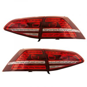 SK-Import Phares Arrieres GTi-Look Rouge - Fumée Volkswagen Golf Pre Facelift-79176