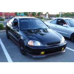 PU Design Avant Lame de Pare-Choc Type R Style Noir Polyurethane Honda Civic Pre Facelift-46525