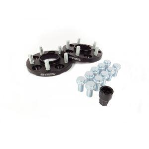 JR-Wheels Cales de Roue JRWA1 Noir Aluminium-64410