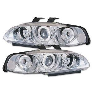 Sonar Phares Avants Angel Eyes Chromé Transparent Honda Civic-40917