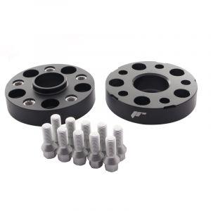 JR-Wheels Cales de Roue JRWA2 Noir Aluminium-64411