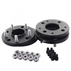 JR-Wheels Cales de Roue JRWA4 Noir Aluminium-64413
