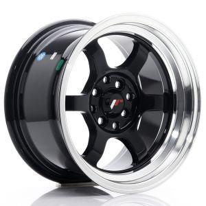 JR-Wheels JR12 Jantes 15 Pouces 8.5J ET13 4x100,4x114.3 Brillant(e) Noir-55702-2