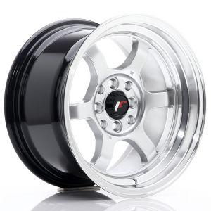JR-Wheels JR12 Jantes 15 Pouces 8.5J ET13 4x100,4x114.3 Hyper Silver-55700-2