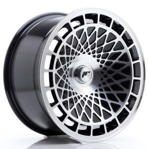 JR-Wheels JR14 Jantes 17 Pouces 8.5J ET15 Custom PCD Brillant(e) Noir Machined-57894