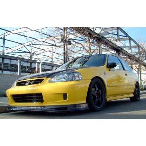PU Design Avant Lame de Pare-Choc Spoon Style Noir Polyurethane Honda Civic Facelift-44914