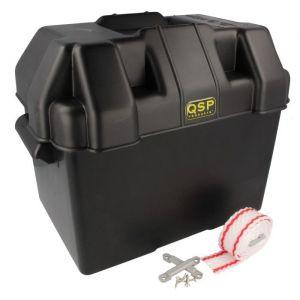 QSP Bac à Batterie Noir Polypropylène-80118
