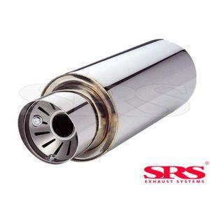 SRS Arrière Silencieux Universel G55 61mm Acier Inoxydable-50111